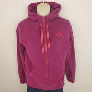 Pink and Orange North Face